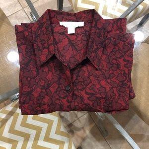 Michael Kors Tops - Michael Kors Red and Black blouse